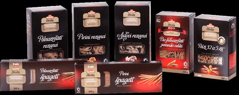 Izdelki blagovne znamke Divita